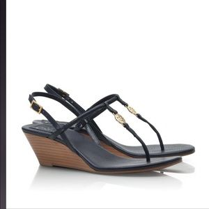 Tory BurchNavy Emmy Demi-wedge Thong sandals